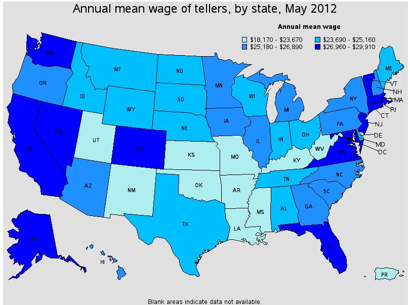 Bank Teller Wage