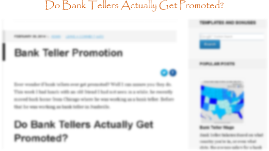 Bank Teller Promotions Do Bank Tellers Get Promotions